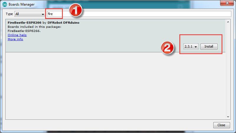 DFRobot-FireBeetle-ESP8266-Review-FireBeetle-Arduino-Board-Install