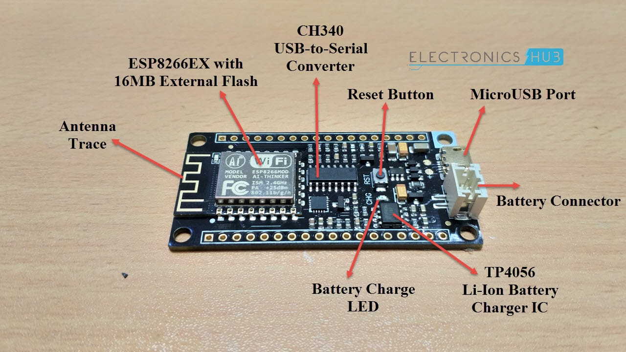 DFRobot-FireBeetle-ESP8266-Review-FireBeetle-Components