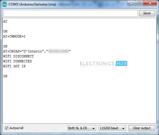 将ESP8266连接到ThingSpeak AT命令WiFi